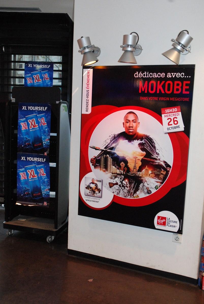 Dédicace de Mokobe au Virgin Megastore de Barbès avec XL Energy